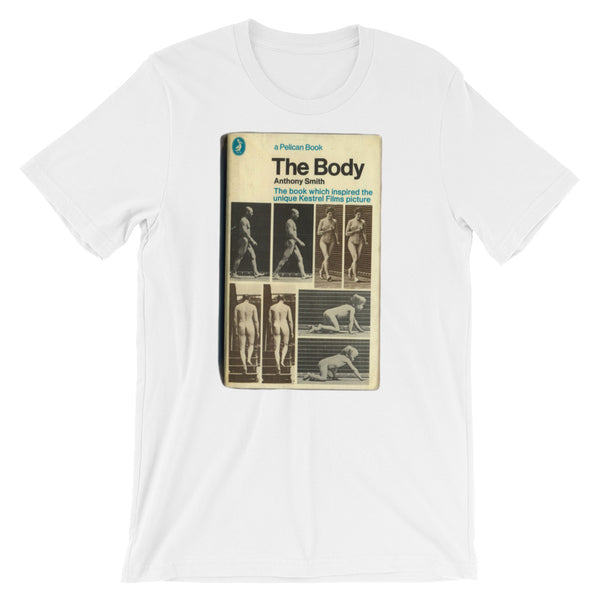 The Body T-shirt Mid-Century Penguin Book Cover Graphic Tee Short-Sleeve Unisex T-Shirt - babbletees