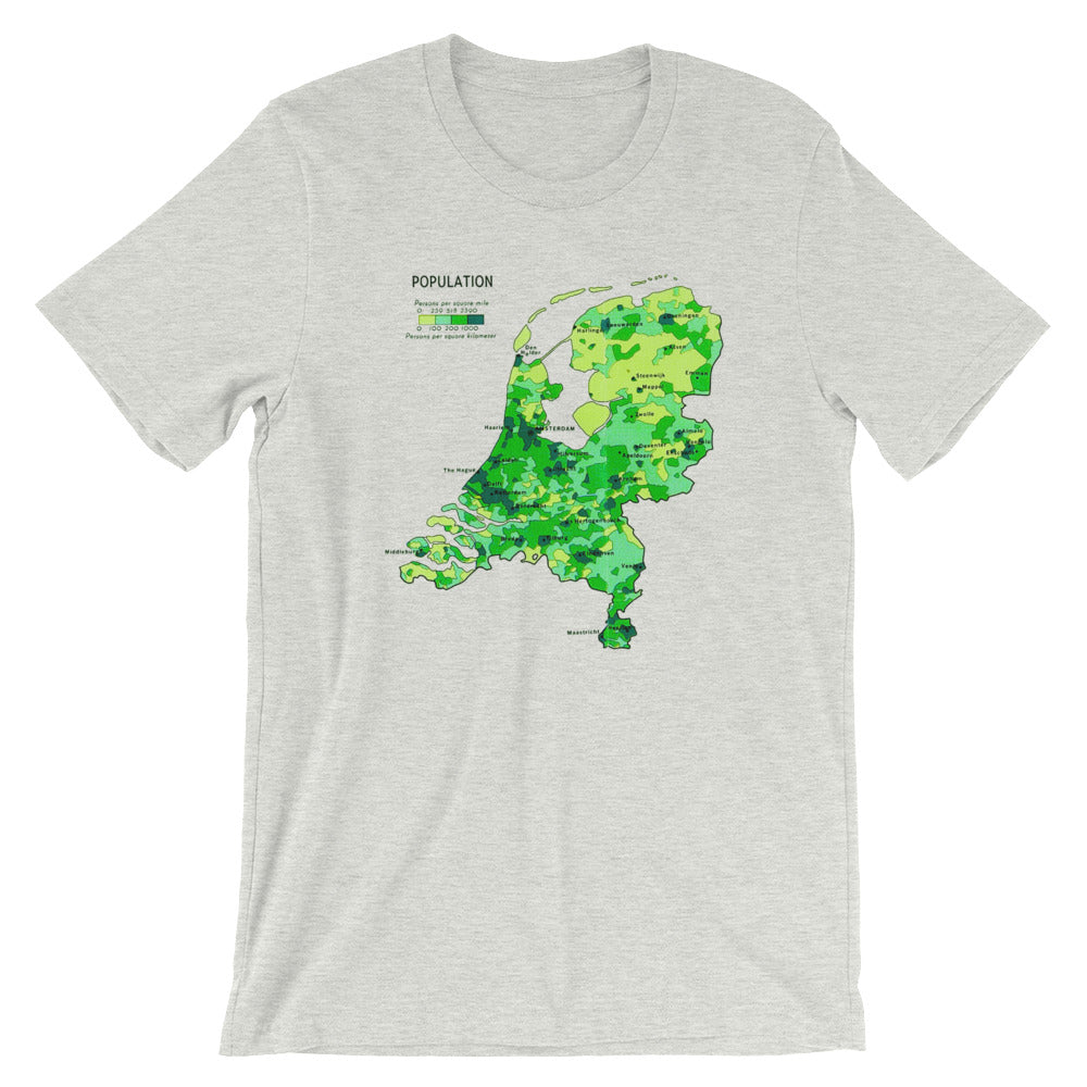 9fc777dce ... Dutch Map T-shirt Creative Vintage Graphic Design Tee - babbletees ...