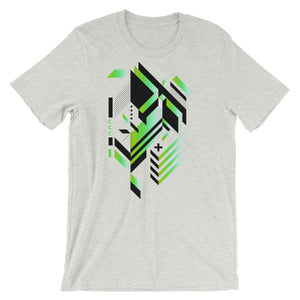 Isometric Art T-shirt Geometric Shapes Minimal Abstract Graphic Art trendy Polygon Cool Gift Futuristic Short-Sleeve Unisex T-Shirt - babbletees