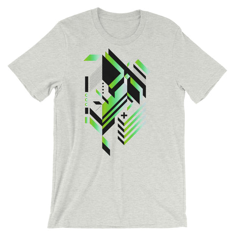 Isometric Art T-shirt Geometric Shapes Minimal Abstract Graphic Art trendy Polygon Cool Gift Futuristic Short-Sleeve Unisex T-Shirt