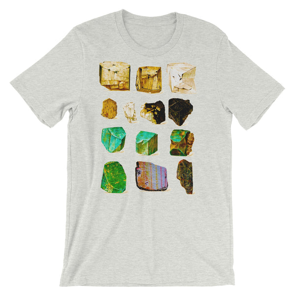 Minerals Rock T-shirt Vintage Geology Science Graphic tee shirt ash babbletees