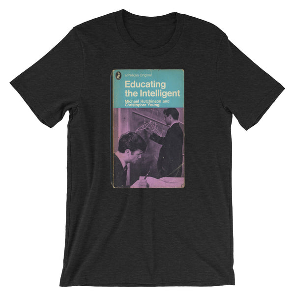 Educating the Intelligent Science Geek T-shirt Retro 1960 Book Cover Graphic Tee Short-Sleeve Unisex T-Shirt - babbletees