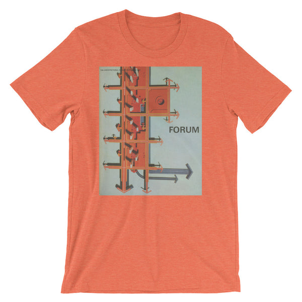 Nordic Design Tshirt Midcentury Abstract Art Print FORUM German Graphic Design Tee Short-Sleeve Unisex T-Shirt - babbletees