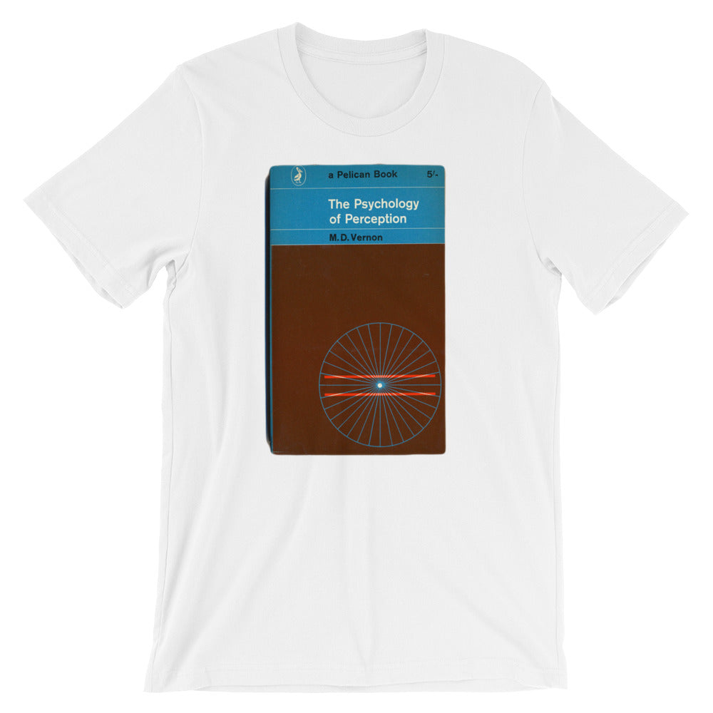 The Perception of Psychology Tshirt Vintage Penguin Book Cover Graphic Print Short-Sleeve Unisex T-Shirt