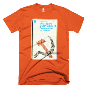 The Theory and Practice of Communism T-shirt Retro Book Cover Geek Tee