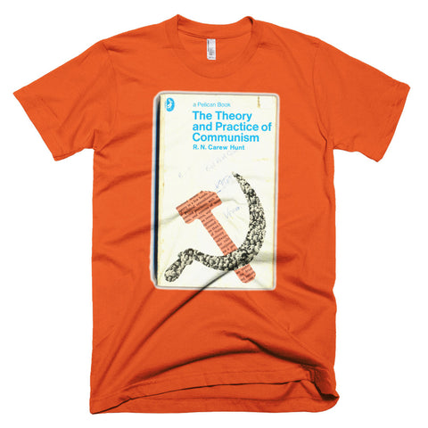 The Theory and Practice of Communism T-shirt Retro Book Cover Geek Tee - babbletees