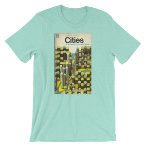 Cites T-shirt Modern Art MidCentury Graphic Art Tee Retro Book Cover Urban Science Short-Sleeve Unisex T-Shirt