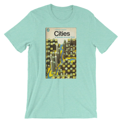 Cites T-shirt Modern Art MidCentury Graphic Art Tee Retro Book Cover Urban Science Short-Sleeve Unisex T-Shirt - babbletees