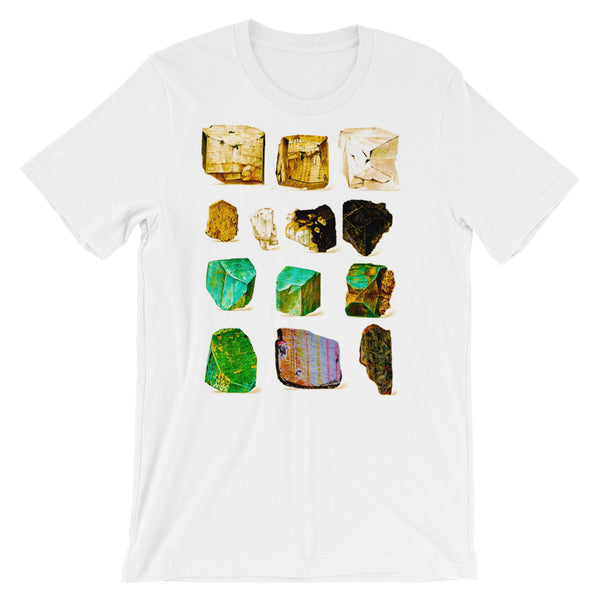 Minerals Rock T-shirt Vintage Geology Science Graphic tee shirt white babbletees