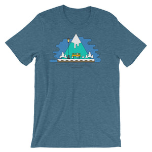 Ski Graphic Tee Shirt Mountain Nature Graphic Tee Geometric Polygon Trendy Style Cool Gift Graphic Design Shirt Short-Sleeve Unisex T-Shirt - babbletees