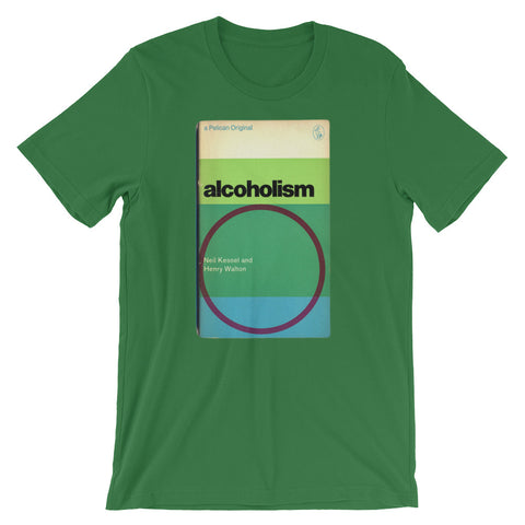 Alcoholism T-shirt Retro 1960s MidCentury Book Cover Graphic TEE Short-Sleeve Unisex T-Shirt