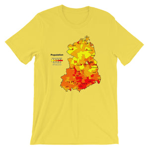 Retro Cool East Germany Population Map T-shirt - babbletees