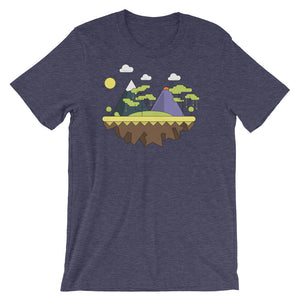 Purple Mountain Infographic Nature Tree Graphic Short-Sleeve Unisex T-Shirt - babbletees