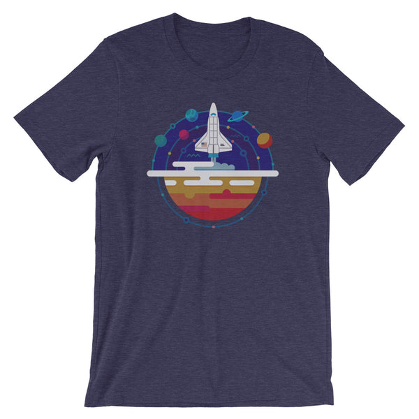 NASA T-shirt Space Shuttle Launch Retro Science Graphic Tee - babbletees