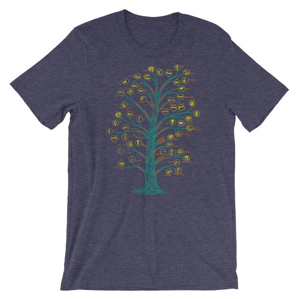 Evolution T-shirt Tree of Life Graphic Science Chart T-shirt navy babbletees