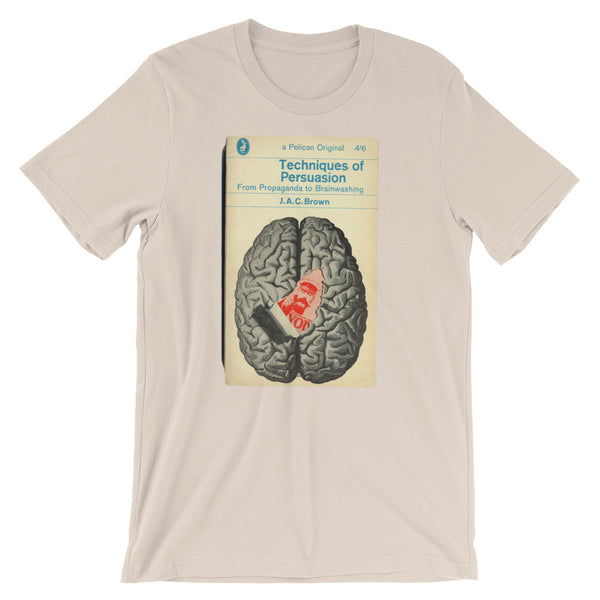 Brain Tshirt Vintage Science Geek Graphic Tee Techniques Persuasion Tshirt Book Cover Graphic Tee Geek Science Short-Sleeve Unisex T-Shirt