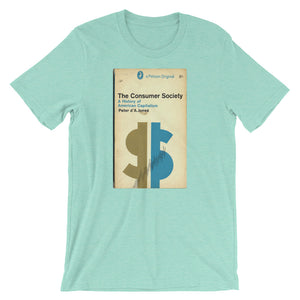 This Mid Century Graphic Design Tshirt The Consumer Society Vintage Science Penguin Book Cover artwork Short-Sleeve Unisex Shirt is everything you've dreamed of and more. It feels soft and lightweight, with the right amount of stretch. It's comfortable and flattering for both men and women.
