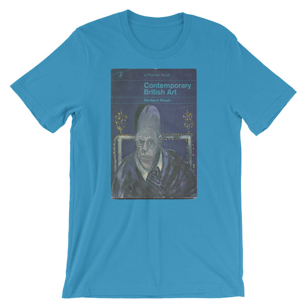 Francis Bacon Tshirt Contemporary British Book Cover Art Tee Modern Art Tee Short-Sleeve Unisex T-Shirt teal babbletees