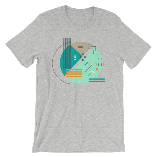 Abstract Art Tee Shirt Modern Geometric Shapes Graphic Design Tshirt Memphis Style Short-Sleeve Unisex T-Shirt