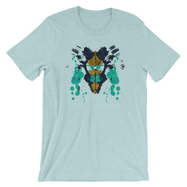Ink Blot Psychology T-shirt Rorschach Test Science Abstract Art Creative Tee mint babbletees