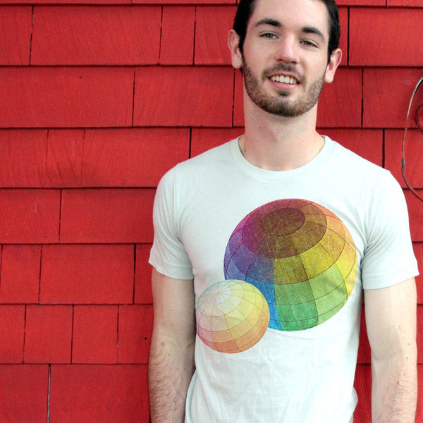 Color Theory T-shirt handsome male model wearing awesome babbletees color theory science graphic tee shirt