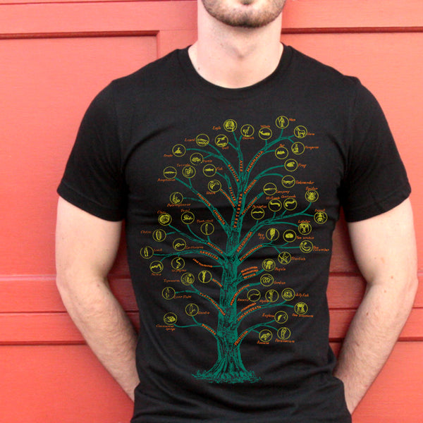 Evolution T-shirt Tree of Life Graphic Science Chart T-shirt - babbletees