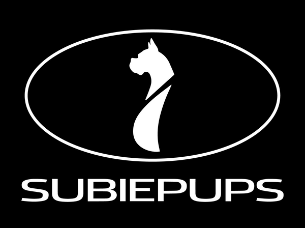 SubiePups window decal Subaru dogs