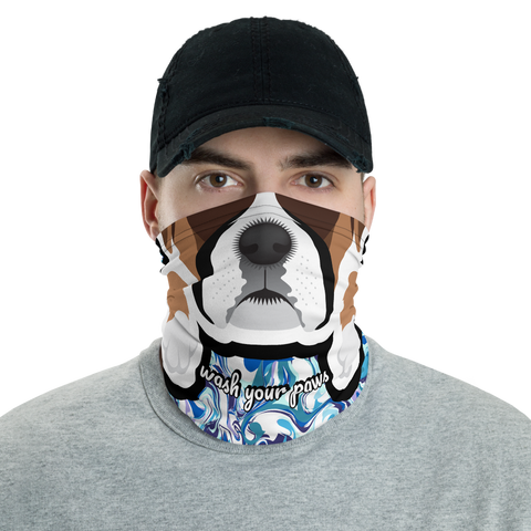 Wash Your Paws - Neck Gaiter - Boxer
