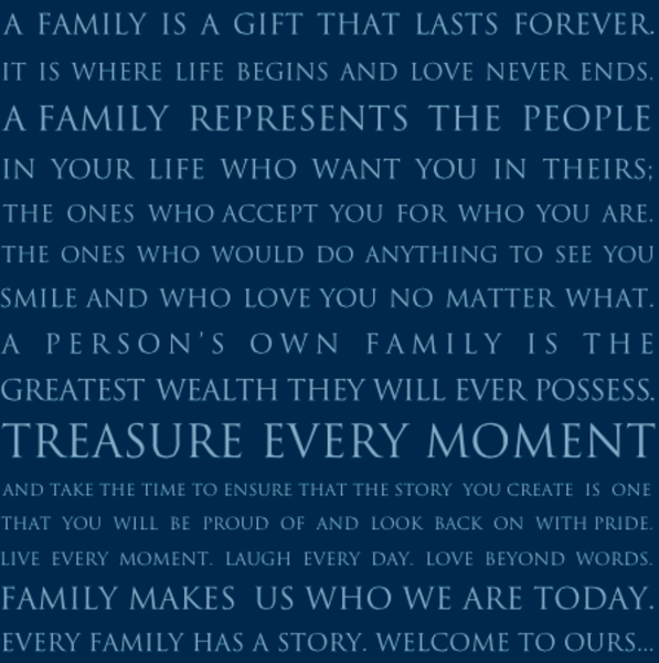 FAMILY IS A GIFT - LARGE