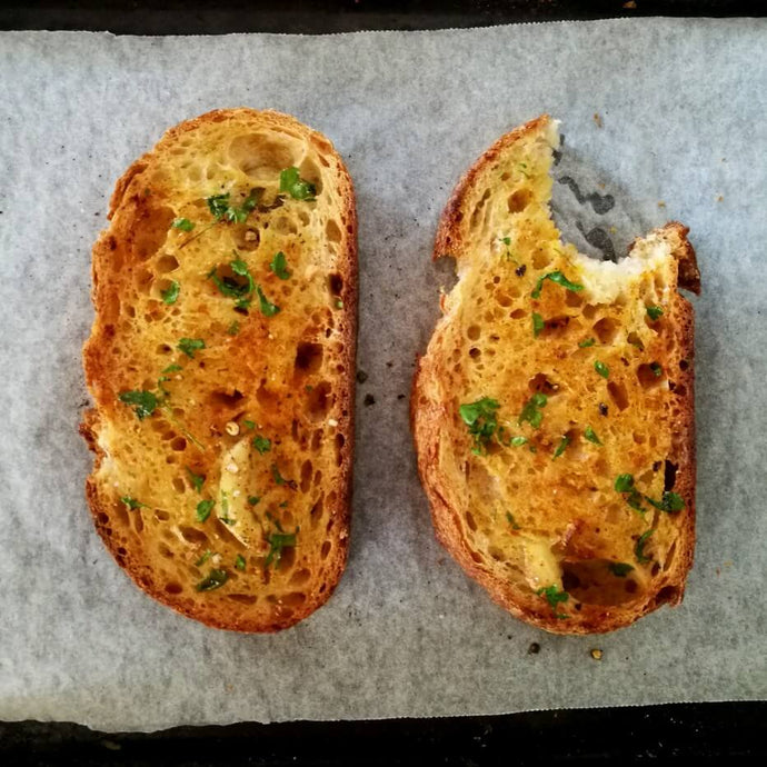 Using Leftovers: my garlic bread recipe