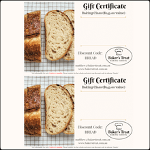 Load image into Gallery viewer, gift-voucher-certificate-sourdough-bread-adelaide