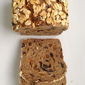 Spiced Fruits and Oats Sourdough Loaf 'gourmet raisin toast'