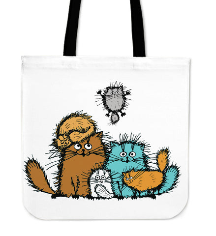 Fuzzy Cat XIX Cloth Tote Bag