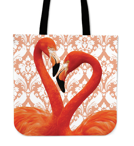 Flamingo Flocking Cloth Tote Bag