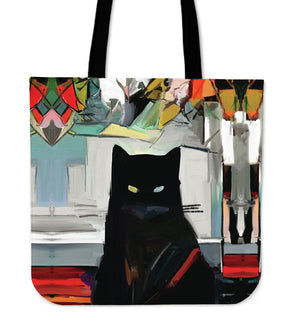 Art Cat V Cloth Tote