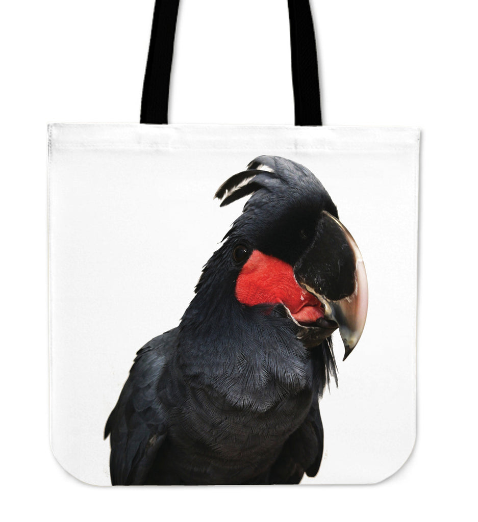 Black Cockatoo Parrot Tote Bag
