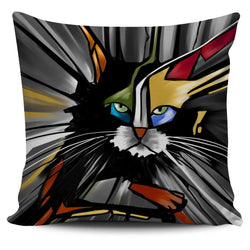 Abstract Cat Pillow Cover #1 - WearItArt - Pillow Covers