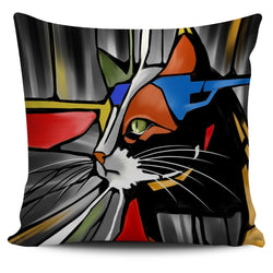 Abstract Cat Pillow Cover #3 - WearItArt - Pillow Covers
