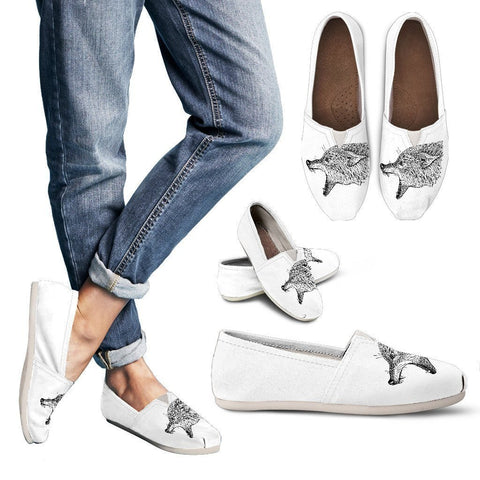 Abstract Zen Wolf Casual Shoes - WearItArt - Casual Shoes