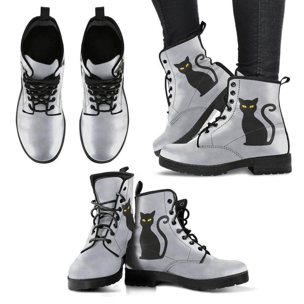 Adorable Cat - Women's Leather Boots - WearItArt - Boots