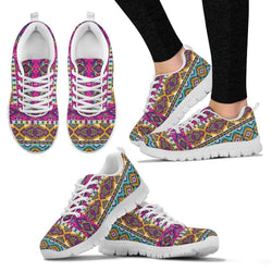 Artistic and Colorful Kaleidoscope Print Sneakers - WearItArt - shoes