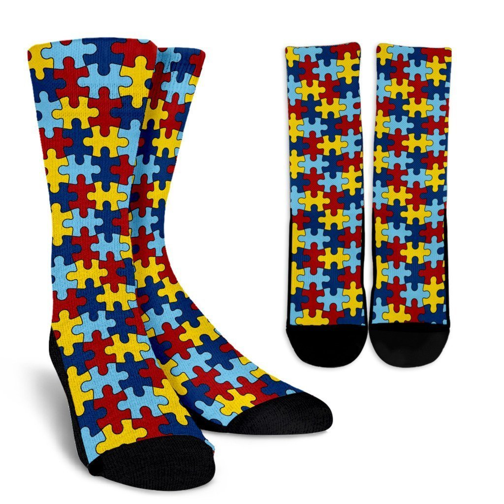Autism Awareness Socks - Black - WearItArt - Socks