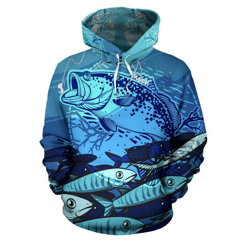 Awesome Blue Fishing Hoodie - WearItArt - Hoodie