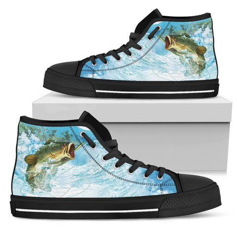 Bass Fishing Men's High Top - WearItArt - shoes