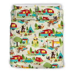 Bedding Set - Beige - FESTIVE CAMPER BEDDING SET - WearItArt - Bedding Set