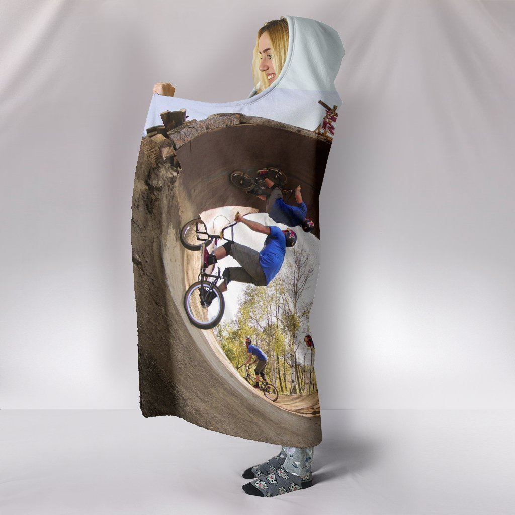 Bicycles in Motion Hooded Blanket - WearItArt - Hooded Blanket