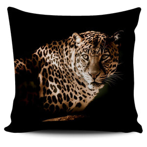 Big Cats Pillow Covers (Leopard Stare) - WearItArt - Pillow Covers