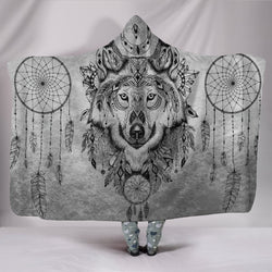 Boho Wolf Hooded Blanket - WearItArt - Hooded Blanket