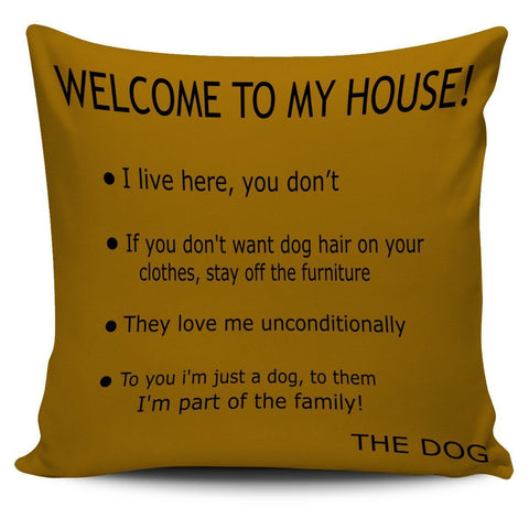 Brown Dog's House Pillow Cover - WearItArt - Pillow Covers