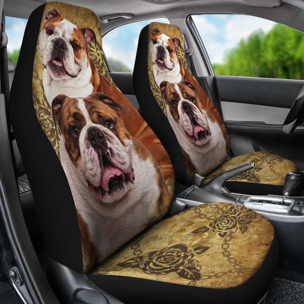 Bulldog Car Seat Covers - WearItArt - Seat Cover